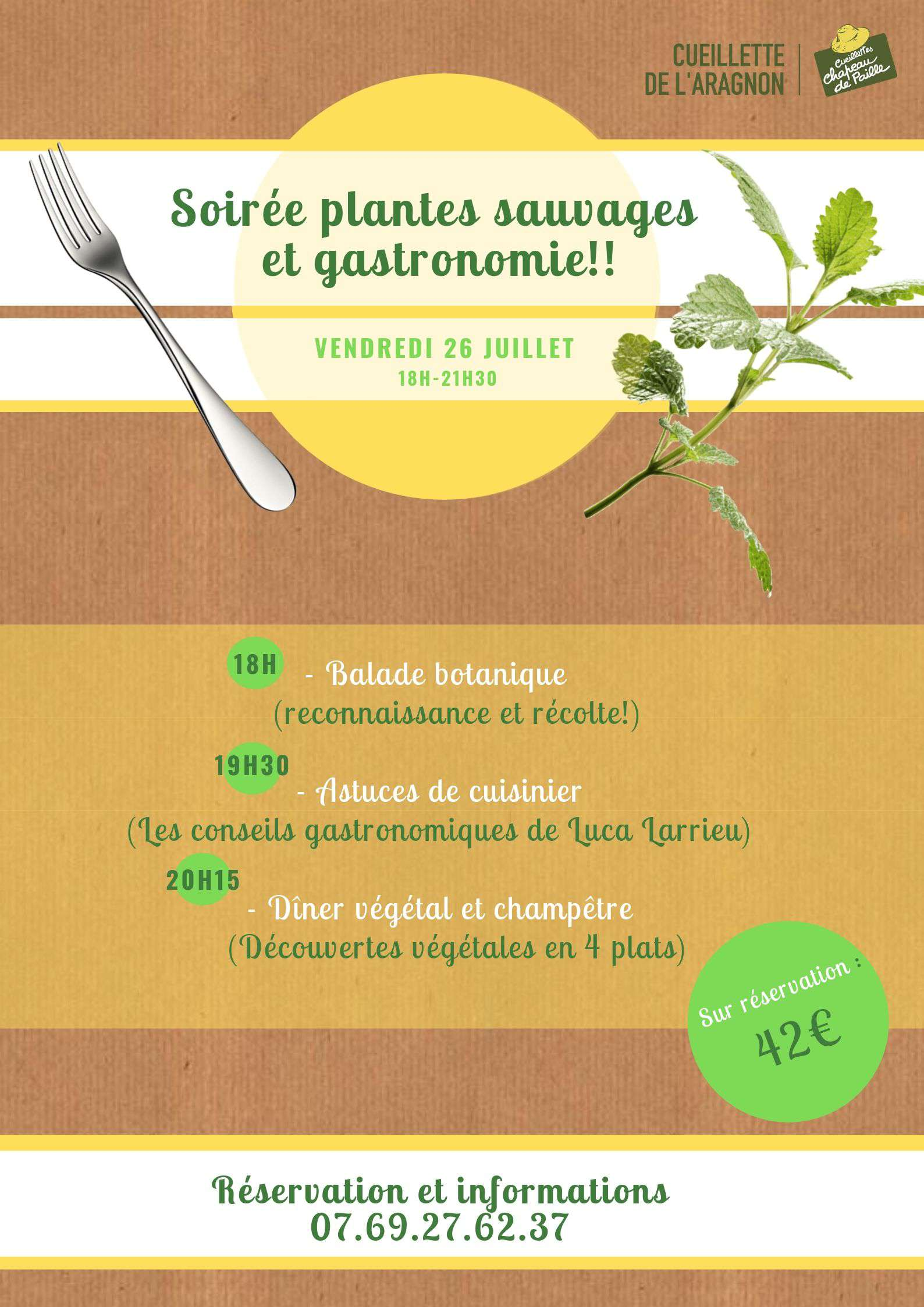 Dîner champêtre et plantes sauvages!