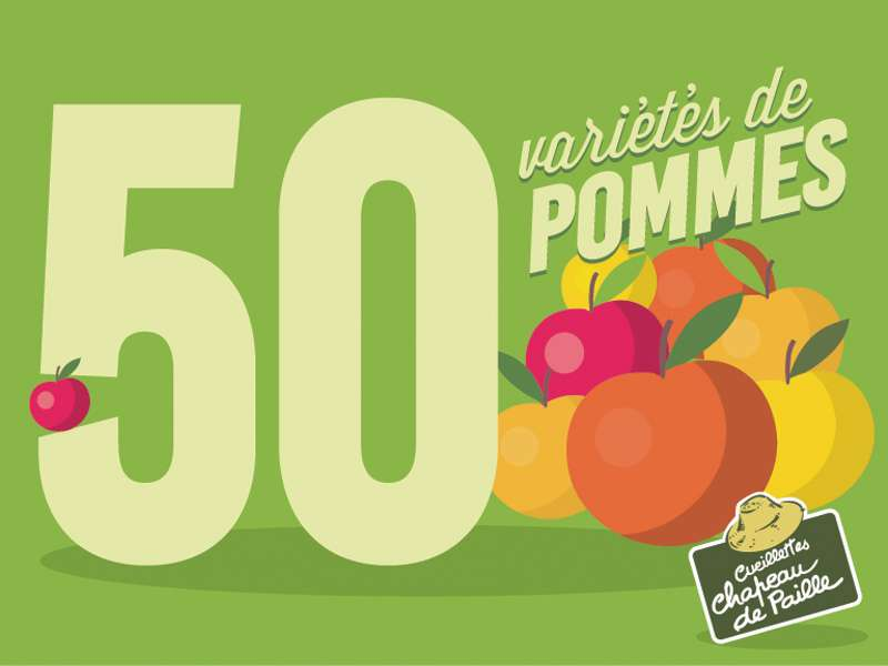 50 variétés de pommes