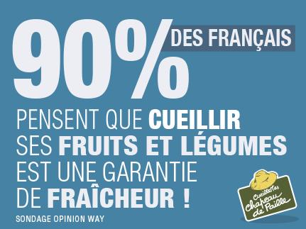 90% des français pensent que cueillir ses fruits et légumes est une garantie de fraîcheur !